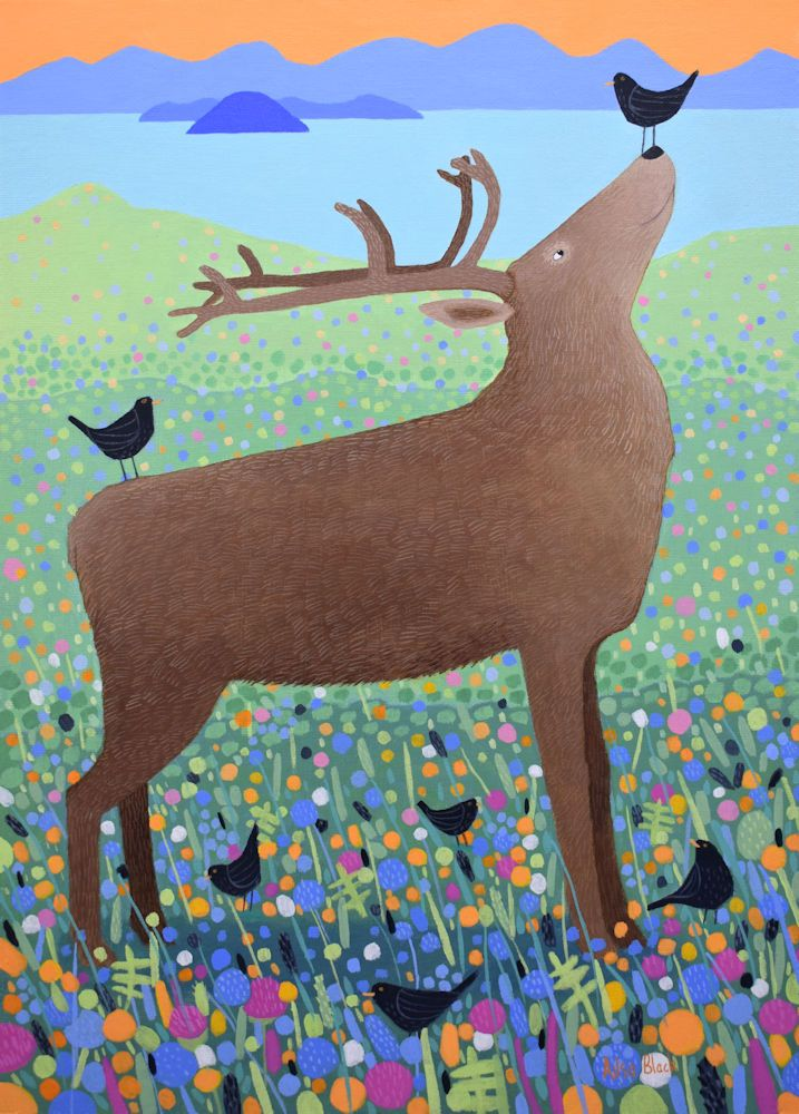Red Deer painting for sale