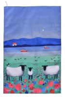 """Woolitt Wanderers"" Sheep Cotton Tea Towel"