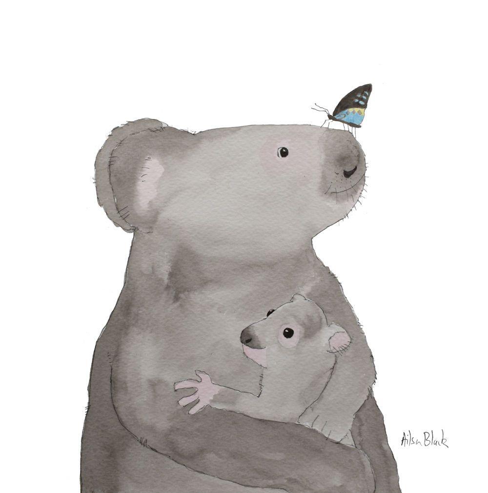 koala and butterfly