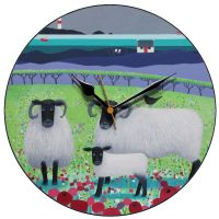 """Highland Fleecies"" Black Faced Sheep Clock"