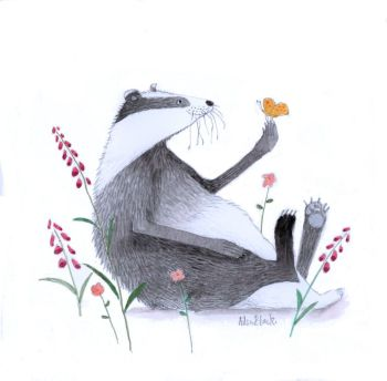 Badger and Butterfly