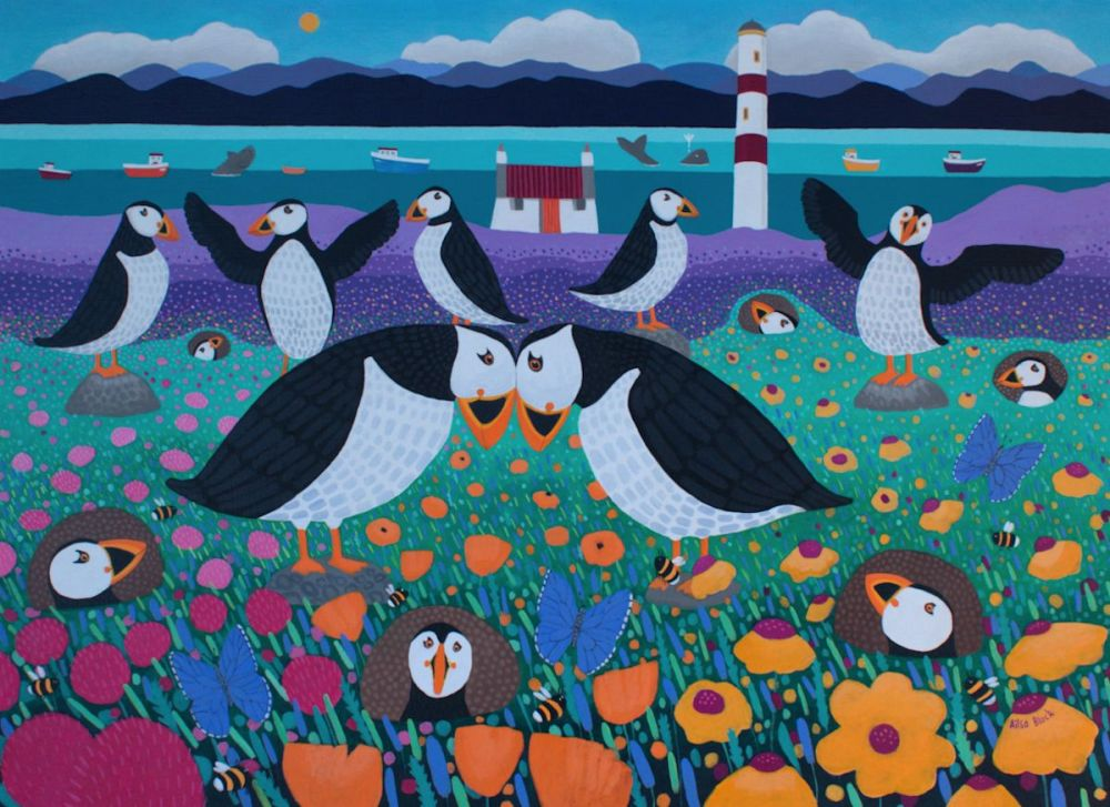 The Puffinry Original Painting