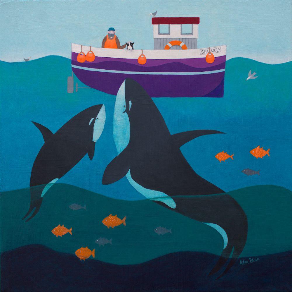 Sea Wolf Original Painting