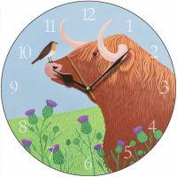 """Hairy Coo"" Highland Cow Clock"