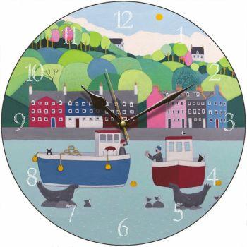 """The One That Got Away"" Decorative Coastal  Clock"