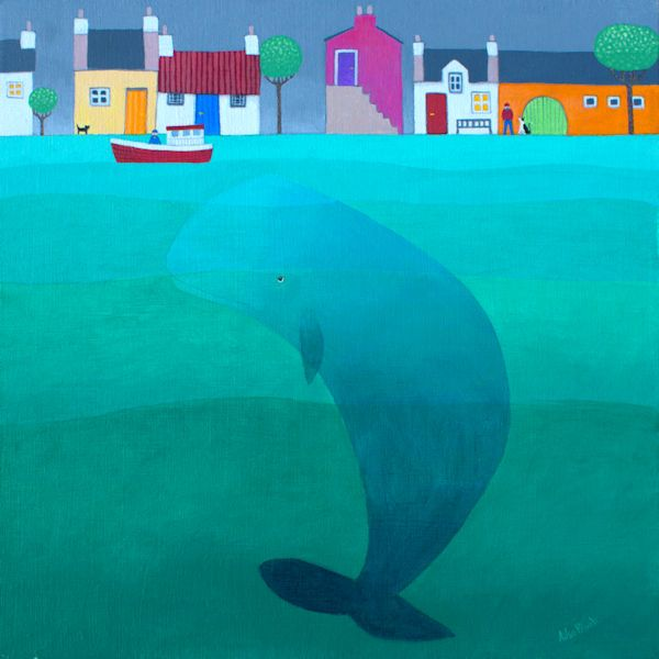 A whale painting