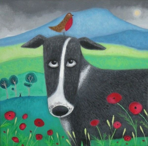 collie dog painting
