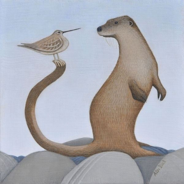 A painting of an otter by scottish artist ailsa black