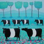 """Band O' Belties"" Belted Galloway art painting"