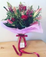 Red Roses & Pink Lilies Wild Mix