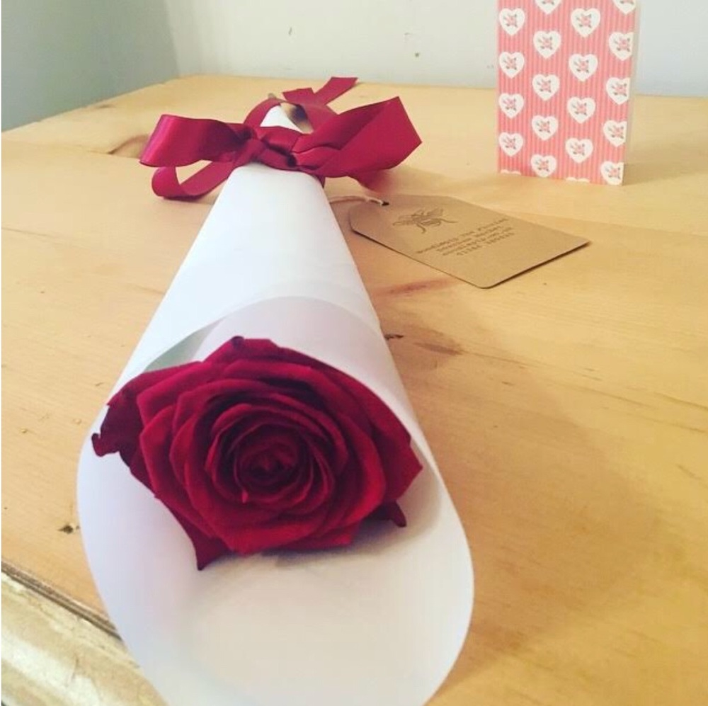 Lux Red Roses, with Satin Ribbon