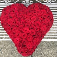 "15"" Red Rose Heart"
