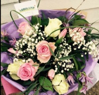 Florists Choice Bouquet a mix of seasonal valentines blooms