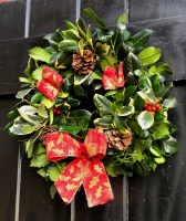 Handmade Holly Wreath