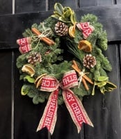 Fully Decorated Classic Christmas Wreath