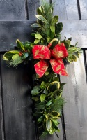 Handmade Mixed Foliage Cross