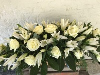 White Lily 4ft Casket Spray