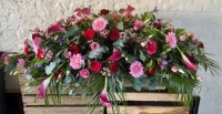 Calla, Rose and Gerbera casket Spray