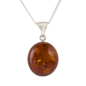 P031 - Classic Baltic Amber Pendant