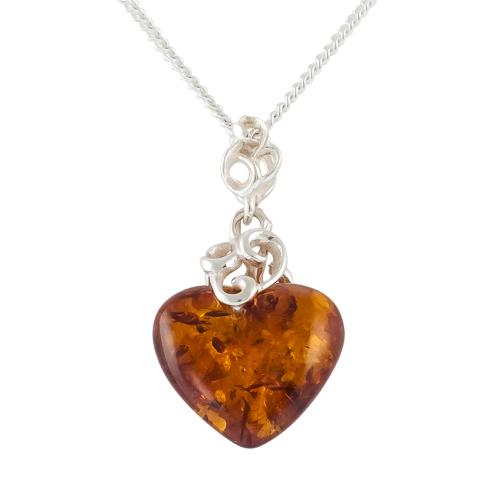 Baltic Amber Heart Pendant