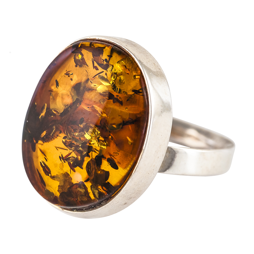 Classic Baltic Amber Oval Ring