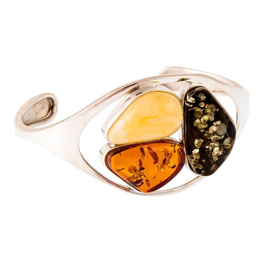 Multicolour Amber Cuff Bangle