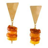 Amber Triangle Shape Earrings