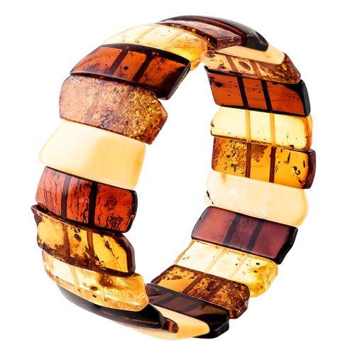 Multicolour amber stretch cuff bangle