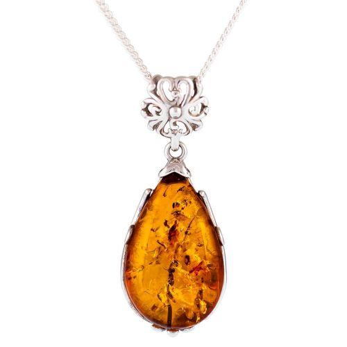 Amber Pear shape Pendant