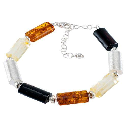 Tubular Amber Bracelet