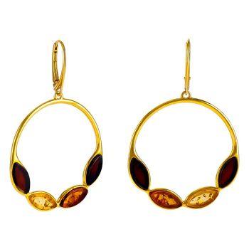 E058 - Hoop Style Drop Earrings
