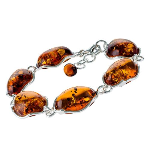 Adjustable Cognac Amber Bracelet