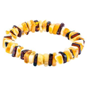 Multicolour Amber Stretch Bracelet
