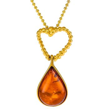 P058-Tear Drop and Open Heart Pendant