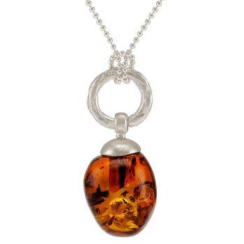 P060-Acorn shape Baltic Cognac Amber Pendant