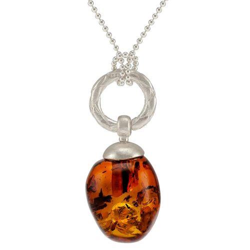 Acorn shape Baltic Cognac Amber Pendant