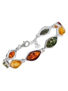 D028-313  Baltic Multicolour amber bracelet