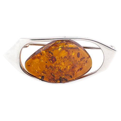 Free Form Amber Brooch