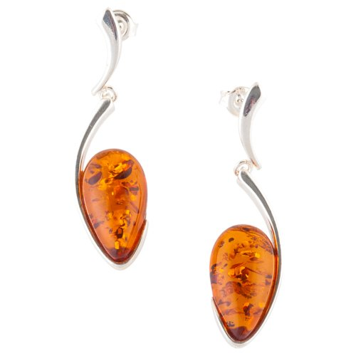 Almond Shape Hand Cut Drop Earrings