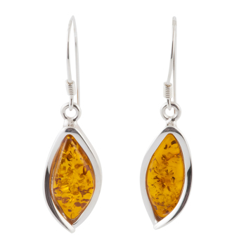 Amber Marquise Drop Earrings