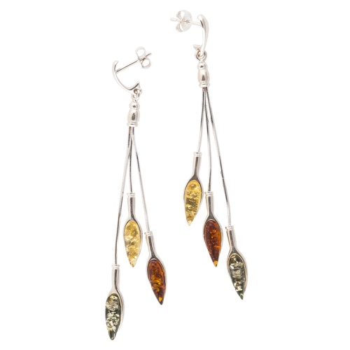 Autumn Leaf Amber Earrings