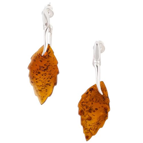Birch Leaf Drop Earrings