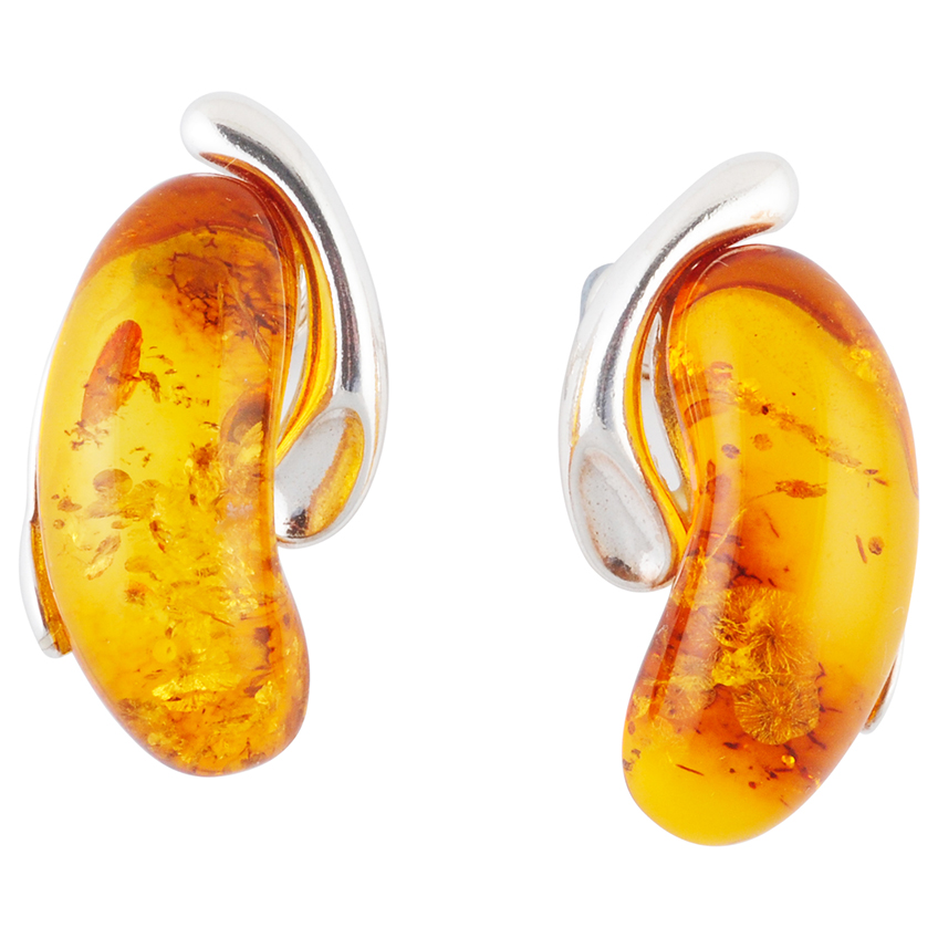 Kidney Shape Stud Earrings