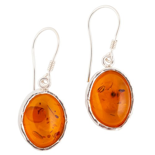 Textured Oval Earrings