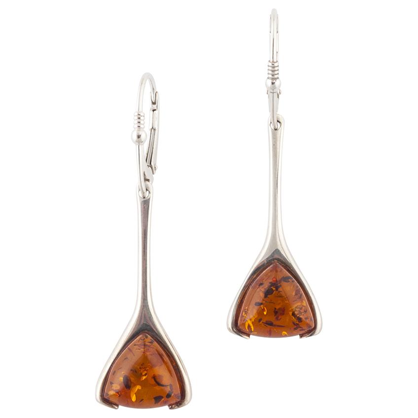 Triangle Shape Drop Earrings