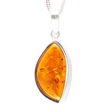 Marquise Amber Pendant Necklace