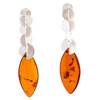 Baltic Amber Marquise drop earrings