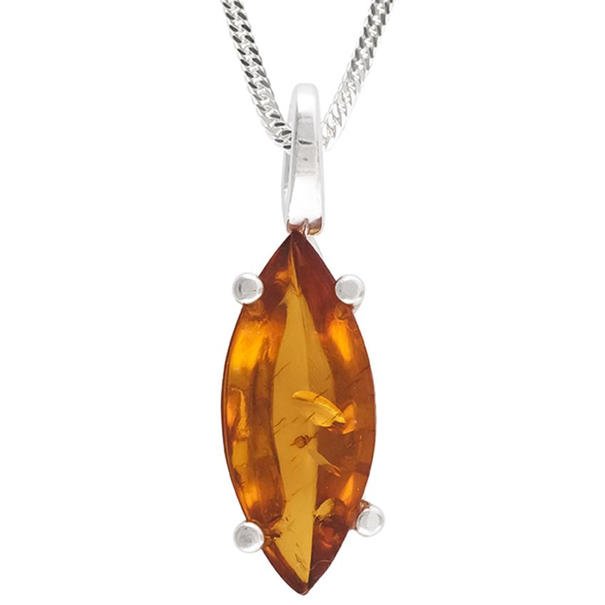 Cognac Baltic Amber Pendant