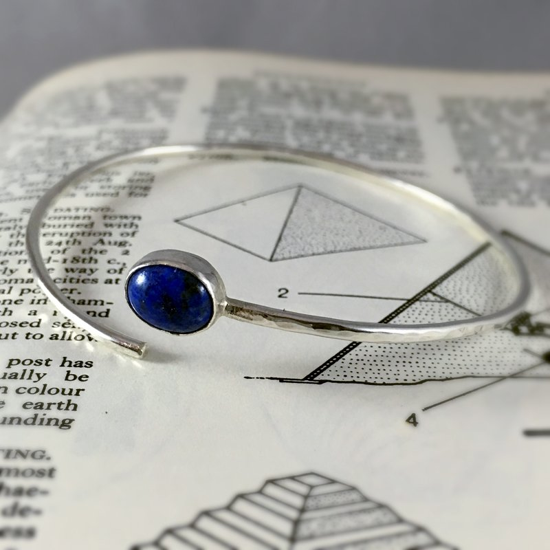 Lapis Lazuli and silver bangle