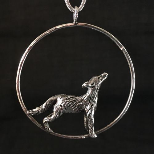 Solid Silver Fox Pendant - One of a Kind